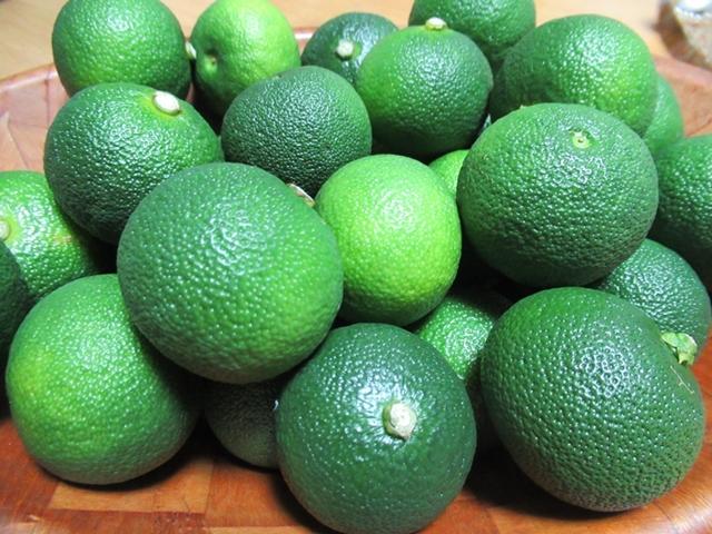 宮崎特産の柑橘類「へべす」